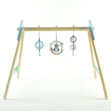 Spieltrapez Blau mit Knistereule
