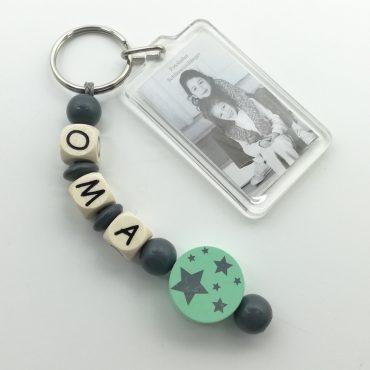 Schlüsselanhänger 1 Name mit Bildanhänger